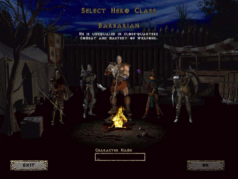 Diablo 2 Character classes